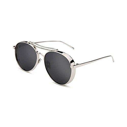 Gxy Sonnenbrille männlich weiblich Retro-Stil, die Sonnenbrille Paare Hipster runden dekorativen Spiegel (Color : #2)