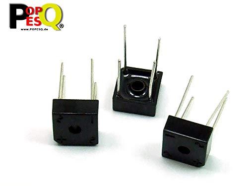 POPESQ® 3 Stk. x KBPC604 Gleichrichterbrücke 400V 6A Brückengleichrichter / 3 pcs. x KBPC604 Rectifier Bridge 400V 6A Bridge Rectifier #A2337 - Brückengleichrichter Spannung