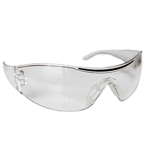 12 teiliges Set Transparenter Schutzbrillen Augenschutz von Kurtzy - Schutzbrillen Brillen Augengläser für Augenschutz mit klaren Kunststoffgläsern - Bündel Set - Komfortable Passform