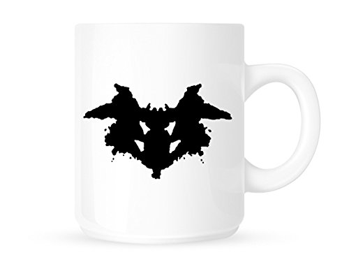 Rorschach Inkblot Prueba Art-psicológico/psicólogos-té/café-diseño de Taza de café/Taza. Idea de Regalo.