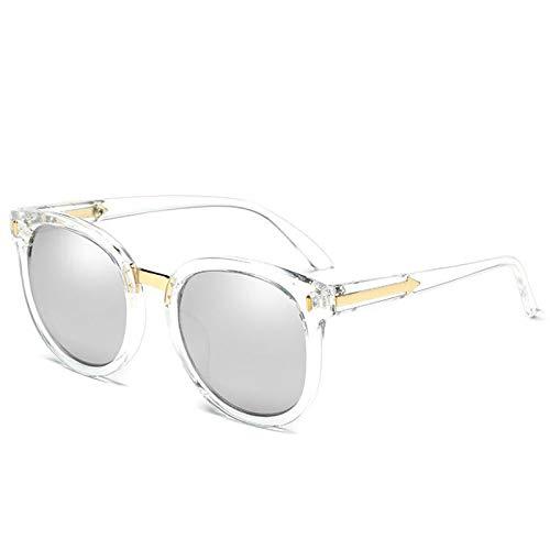 Strand Weiße Spiegel (KGDJKGKD Männer und Frauen Mode polarisierte Sonnenbrille Anti-UV-Sonnenbrille Retro-Pfeil Sonnenbrille im Freien Strand Spiegel Sonnenschirm Spiegel, weiß)