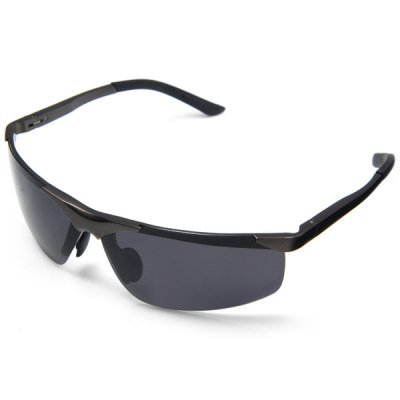Outdoor Cycling Hiking Sunglasses Aluminum Magnesium HD Polarized Eyewear – BLACK
