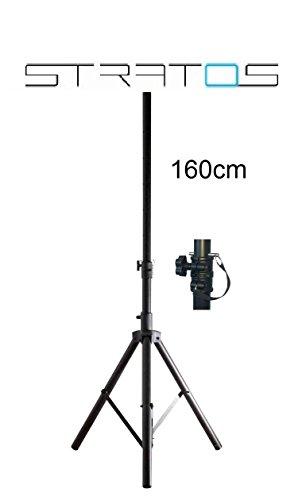 STRATOS Stahl Klapp Dreibein Sat Stativ Tripod Campingstativ für Satellitenantenne 1,50m (150cm) Höhe, 40mm Durchmesser der Maststange Premium Dreibein Stativ für Camping Sat Antennen 1,6m