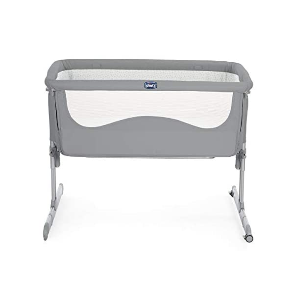 Chicco Next2Me Unisex Cot for All Beds Pearl Grey  Adjustable height in 6 positions Compatible with almost all beds Tiltable so baby breathes better 3