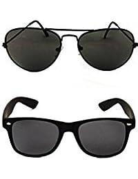 maxx Aviator & Wayfarer Unisex Sunglasses-(waf-001kk5-avi-0012kk5)
