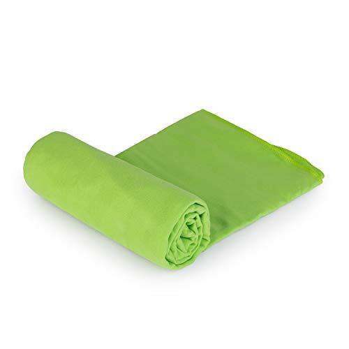 Bademantel, aus Mikrofaser, fürs Fitnessstudio, Reisen, Strand, leicht + Sporttasche Large pistazie