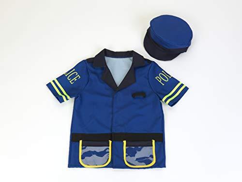 ice Officer Kostüm mit Hut, unisex-child, One size ()