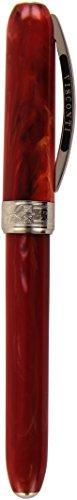 Visconti - Penna stilografica Rembrandt con pennino medio, colore: rosso