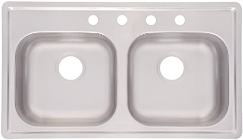 Kindred FMSB654NB Double Bowl Stainless Steel 33 x 19-Inch Top-mount Sink by FrankeUSA