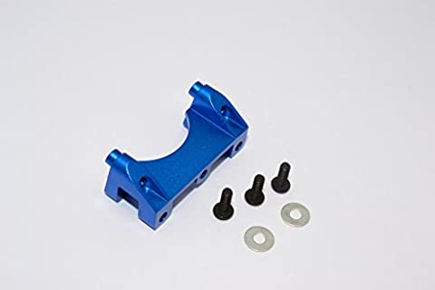 Traxxas Revo & Revo 3.3 Upgrade Pièces Aluminium Front Damper Mount With Counter Sink Washers & Screws - 1Pc Set Blue