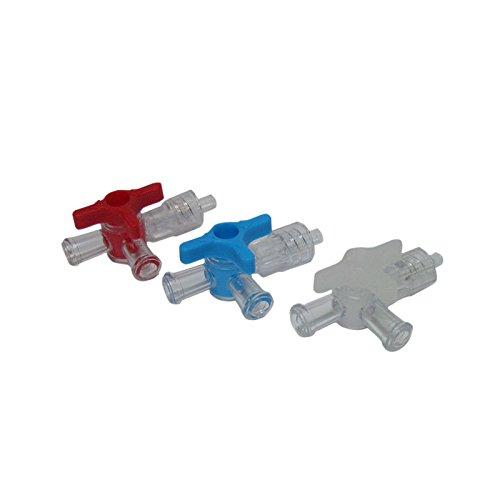 Dispomed Dreiwegehahn Luer-Lock, Infusionsbesteck, Infusionstherapie, blau, 100 Stück