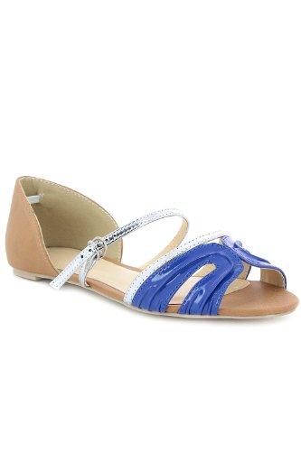 Go Tendance, Damen Ballerinas Blau - Bleu Royal