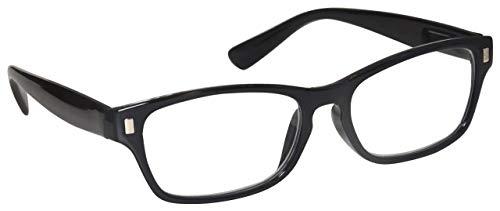 Schwarz Kurzsichtig Fernbrille Kurzsichtigkeit Herren Damen Federscharniere M10-1 Dioptrien -2,00