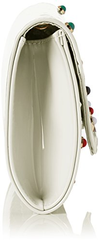 Swanky Swans Damen Valencia Patent Leather Clutch, 5x15x29.4 cm Weiß (White)