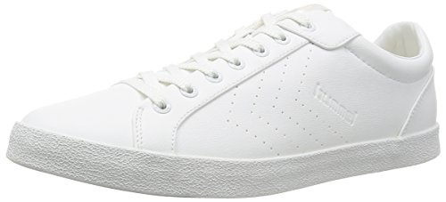 Hummel DEUCE COURT TONAL, Sneakers basses mixte adulte Blanc - Blanc pâle