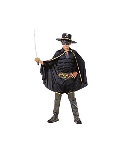 Topwell- zorro costume bambino 5+, nero, 375397