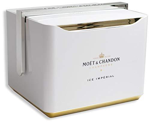 Moët & Chandon Ice Impérial Festival Kühler Transportable Box für 2 Champagner Flaschen und 6 Gläser - Limited Edition