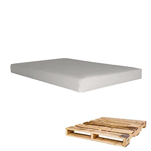Arketicom Pallett One - Asiento Cojin para Sofa hecho en Euro Palet - Polipiel con Funda Desenfundable y Espuma de Poliuretano Alta Densidad - apto para ...