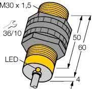 Turck Näherungsschalter Bi10-S30-VP4X/S100 M30,pnp,sn:10mm,IP67 Induktiver Näherungsschalter 4047101070903