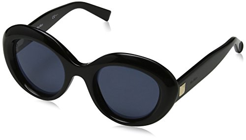 Max mara donna mm prism v ku 807 49 occhiali da sole, nero (black/blue avio)