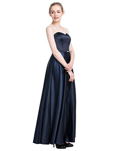 Find Dress Bustier Robe de Soirée Longue Femme Fille Enfant Robe Cocktail Grande Taille pour Mariage Cérémonie sans Manche Robe Demoiselle d'Honneur Bordeaux Princesse en Satin Turquoise