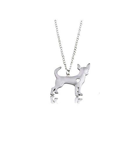 Loveu Jewelry Hündchen Paw Silhouette Anhänger Halskette Edelstahl Halsketten für Tierfreunde Familie Freunde 2018 New Cool