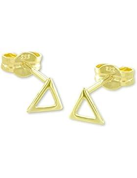 VASCAYA Damen Ohrstecker Ohrring Dreieck, ausgeschnitten Gold 333 Geschenk
