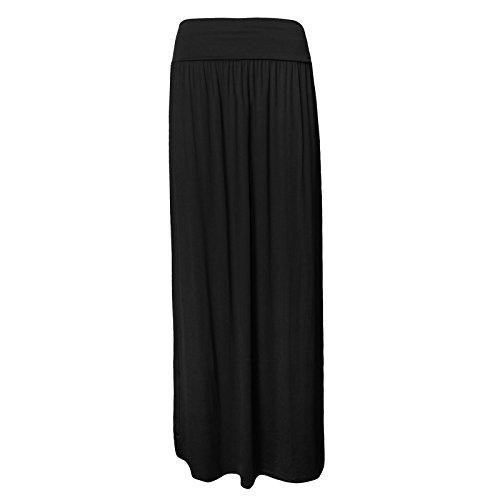 Neuf femmes Généralement de taille haute pleine longueur Maxi Jupe taille 8–42 Noir