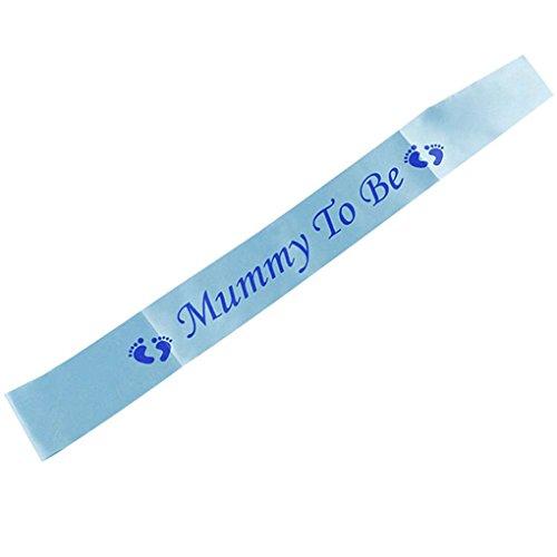 Babysbreath17 Geschlecht Decken Baby-Straps Mama Dusche Sein Rosa Blau Schultergurt New Mom-Party-Geschenk Dekorative Crafts Blau
