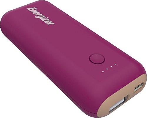 Energizer 5000mAh Batería Externa, Banco de alimentación Compacto, Cargador de teléfono móvil[2.1A Output] para iPhone XS/XS Max/XR/X/8/7, iPad, Samsung Galaxy S9/S8 y Muchos más (Púrpura/Magenta)