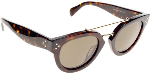Celine 41043 Dark Tortoise / Green Kunststoffgestell Sonnenbrillen