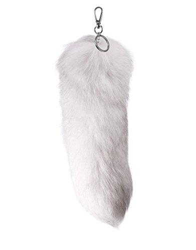 trendfuxx® - Fuchsschwanz Anhänger, Fuchsschweif für die Handtasche - weiß