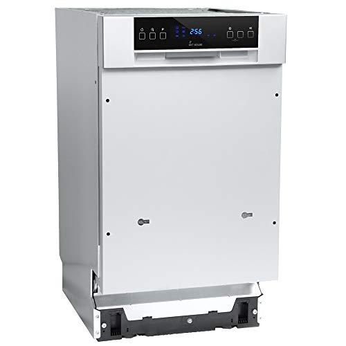 Teilintegrierbarer Geschirrspüler (45cm, Edelstahl, A++, 197kWh/Jahr, AquaStop, Höhenverstellbar Oberkorb, 6 Spülprogramme, Selbstreinigend, Touch, LED-Display) GSI452ED - KKT KOLBE (45)
