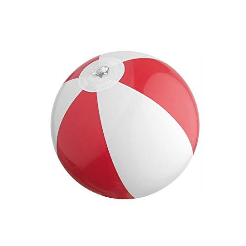 3 Stück mini Wasserball / Strandball für Kinder - ROT - Urlaub Strand Spiel Freizeit Spass