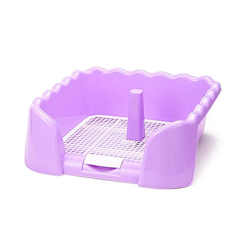 Best Quality - Litter Boxes - portable pet toilet tray grid pet toilet fence dog toilet puppy training pad holder with fence pee post for small pet potty - by Stephanie - 1 PCs