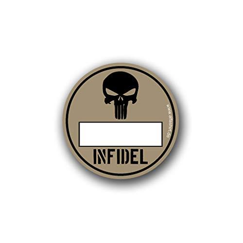 Infidel Umweltplakette Bundeswehr ISAF Umweltzone Skull Totenkopf Fun 8cm#A4796 -