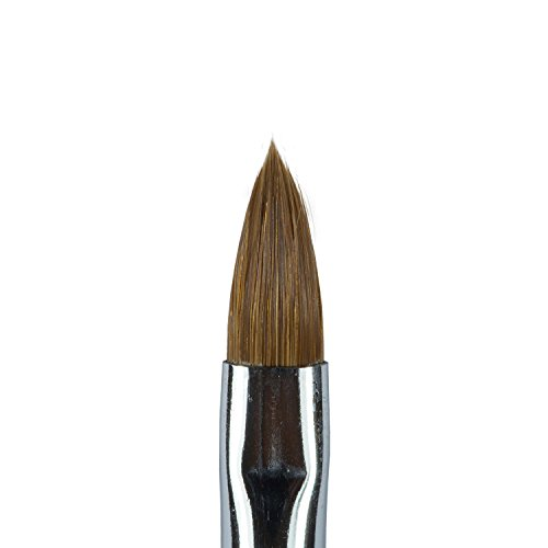 N&BF Profi Gel Pinsel runde Form Größe 8 | Nagel Studio Pinsel Rotmarder Haar | Nailart Pinsel für Nageldesign | Kolinsky Brush Acryl & Gel Modellagen | Premium Echthaar-Pinsel