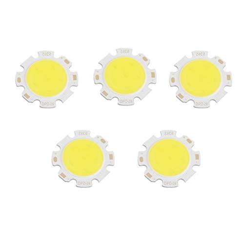 5 teile/los Reinweiß Runde COB Super Helle Lange Lebensdauer LED Weniger Temperaturbeständigkeit SMD Chip Licht Lampe DC 9-12 V 3 Watt 9v-lampe