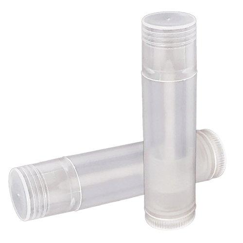 Vococal® 50 Pcs 5ml Bricolage Vide En Plastique Réutilisable Pour Les Lèvres Baume à Lèvres Chap Stick Tube Bouteille Conteneurs Ttranslucides