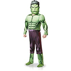 Rubies 640839S - Disfraz infantil de los Vengadores de Marvel Hulk (talla pequeña, 104 cm de altura)