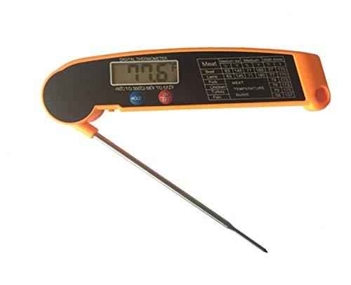 YLQXGA Digital LCD Food Thermometer Küche Kochfühler - Geeignet für Wein - Essen - Fleisch -...