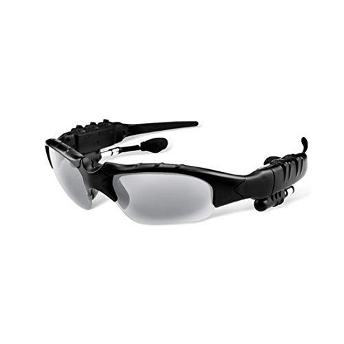 UZZHANG Antwort Eine Stereo-Bluetooth-Brille Polarisierte Sonnenbrille Bluetooth-Bewegung Bluetooth-Brille USB-Aufladung (Farbe : Grau)