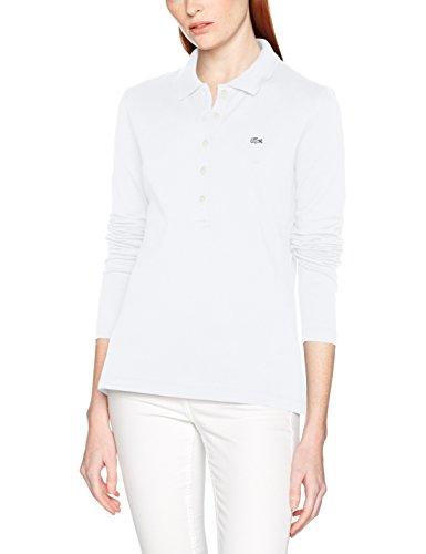 Lacoste Damen Poloshirt Pf7841, Weiß (Blanc), (Herstellergröße: 40)