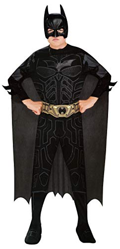 The Dark Knight Rises Batman Kostüm für Kinder/Jungen 5/6Yahre (Kind Bat Kostüm)