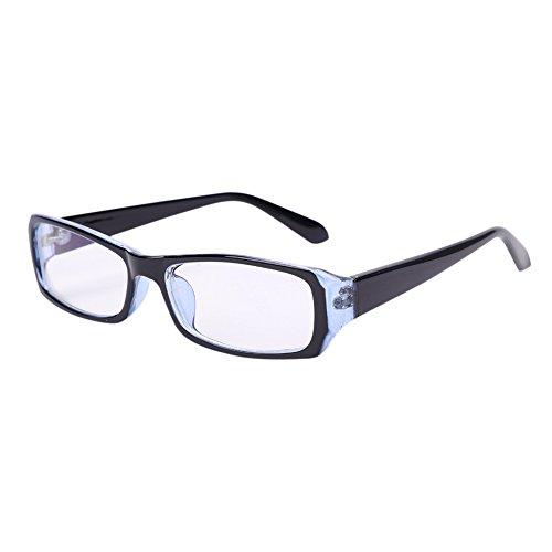 Brille ohne Sehstärke Blaufilterbrille Schmal Rahmen Brillengestelle BlauLicht UVSchutz Nerdbrille Strahlenschutz Streberbrille Ebenenspiegel Pantobrille Herren Damen Computerbrille Bildschirmbrille