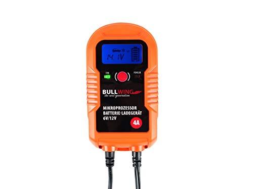 Bullwing BL 4.0 - vollautomatisches universal Batterieladegerät für Auto Motorrad 6/12V 4A intelligentes Batterieerhaltungsgerät