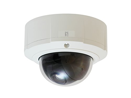 LevelOne 57104207 PTZ Dome Network Camera, 3-Megapixel, Outdoor, PoE 802.3af, Day & Night, 10x, WDR IPCam, 10.36 W, Schwarz, Weiß Dc-iris-dome-audio
