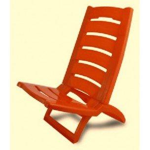 Sedie Da Mare In Plastica.Adriatic Adr007 Spiaggina Arancio Amazon It Giardino E Giardinaggio