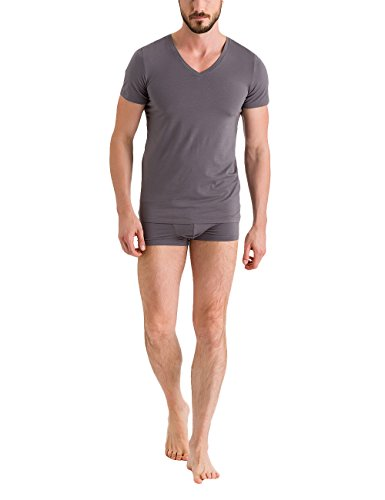 Hanro Herren Unterhemd Cotton Superior Grau (Ebony 2179)