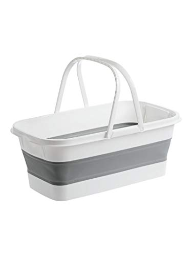 Cubo fregona plegable portátil rectangular lavado